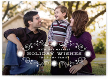 Winter Lights Christmas Photo Cards