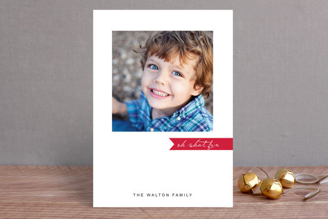 Simply Be Merry Christmas Photo Cards