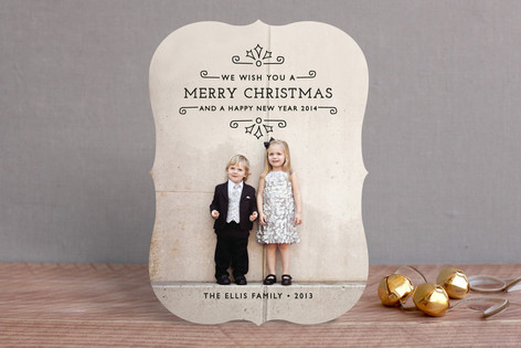 Holiday Scrolls Christmas Photo Cards