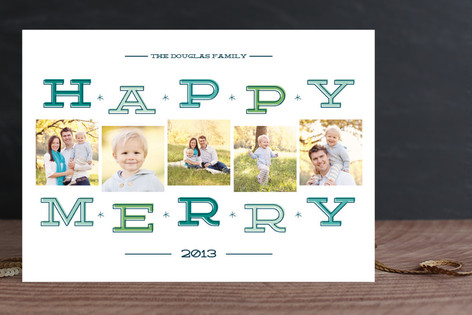 Happy Merry Squares Christmas Photo Cards