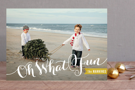Joyful Script Christmas Photo Cards