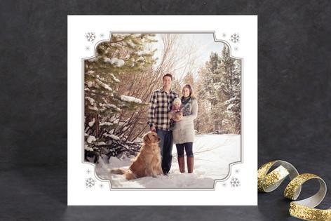 Snowflake Corners Christmas Photo Cards
