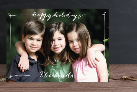 Greeting in a Frame Christmas Photo Cards
