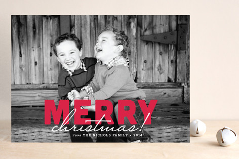 Bold and Merry Christmas Photo Cards