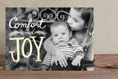 Watercolor Joy Christmas Photo Cards