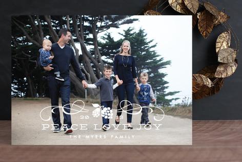 Classic Holiday Swirls Christmas Photo Cards