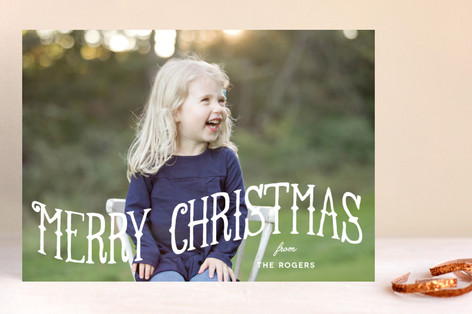Merry Wave Christmas Photo Cards