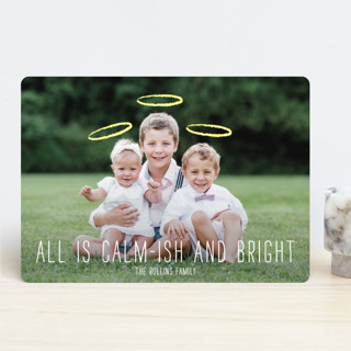 Calm-ish + Bright Christmas Photo Cards