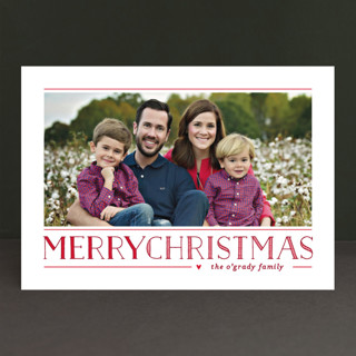 Love Peace Cheer Christmas Photo Cards