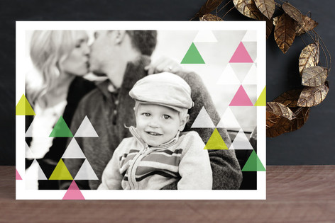 Geometric Spirit Christmas Photo Cards