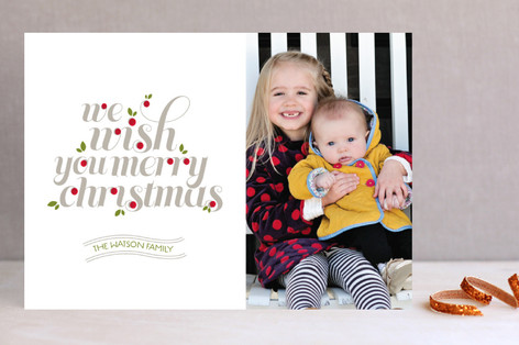 Christmas Salutations Christmas Photo Cards