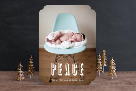 Modern Peace Christmas Photo Cards