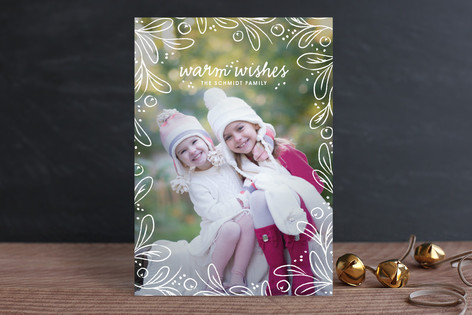 Among the Leaves Christmas Photo Cards
