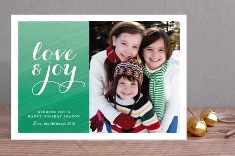 Festive Ombre Christmas Photo Cards