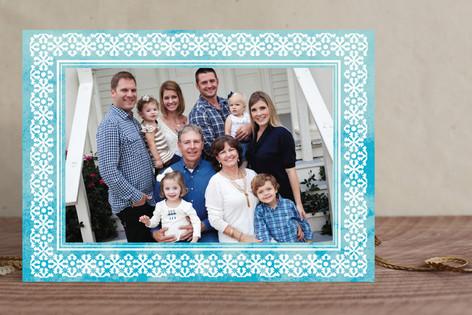 Tropical Snowflake Christmas Photo Cards
