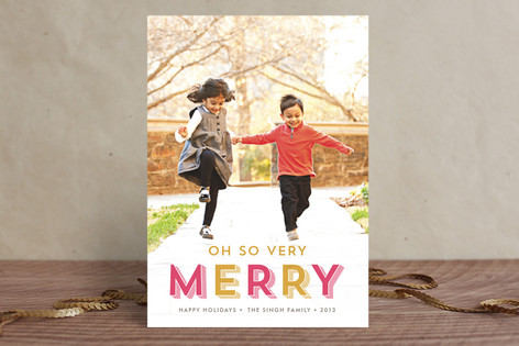 Oh So Very Merry Christmas Photo Cards
