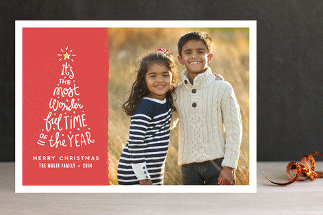 Most Wonderful Time Christmas Photo Cards