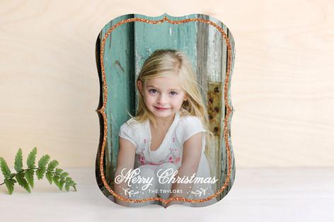Sparkling Frame Christmas Photo Cards