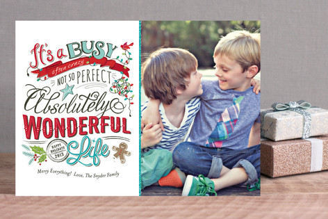 Perfectly Wonderful Christmas Photo Cards