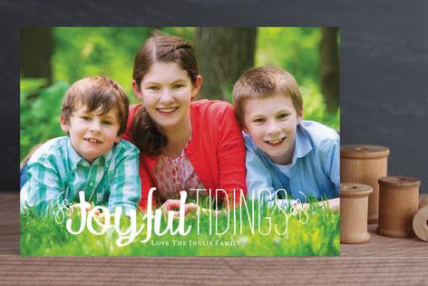 Joy and Tidings Christmas Photo Cards