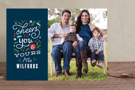 Bright Cheers Christmas Photo Cards