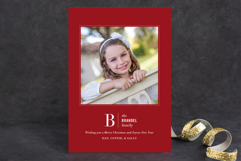 Beauty in Bold Christmas Photo Cards