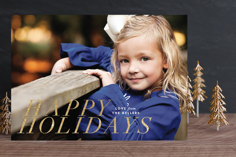 Modern Yuletide Christmas Photo Cards