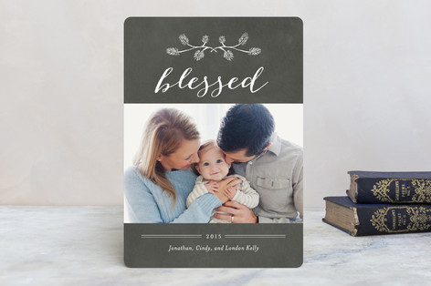 Pine Bough Blessings Christmas Photo Cards