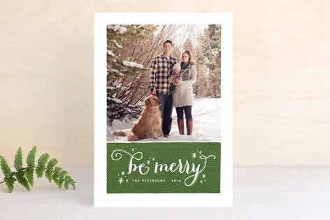 Merry Stars Christmas Photo Cards
