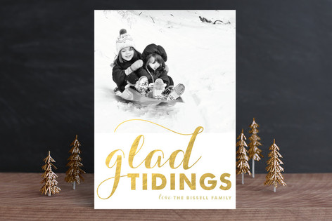 A Glad Greeting Christmas Photo Cards