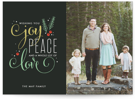 Peaceful Wish Christmas Photo Cards