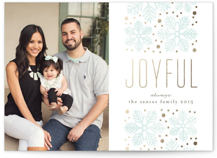 Snowflake Band Christmas Photo Cards