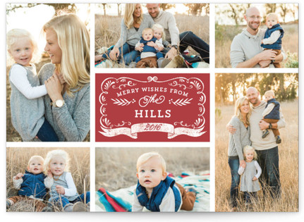 Apothecary Label Christmas Photo Cards