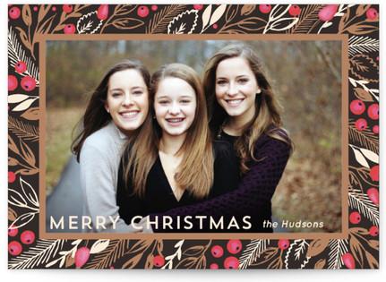 Flora Frame Christmas Photo Cards