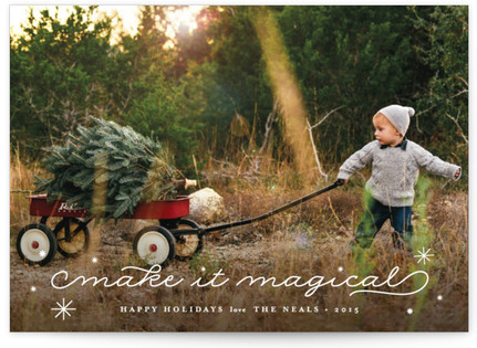 Make It Magical Christmas Photo Cards