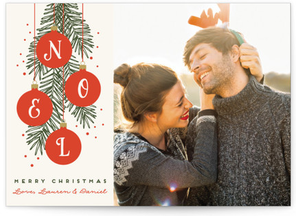 Noel Ornaments Christmas Photo Cards