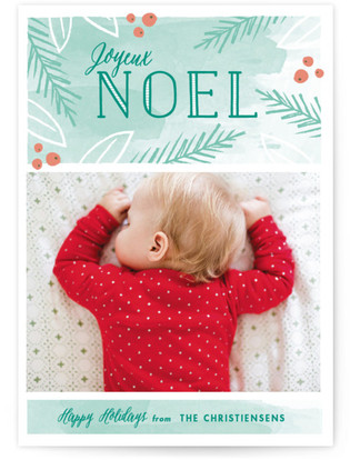 Peaceful Noel Christmas Photo Cards