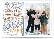 Go Tell it on the Mountain Christmas Photo Cards