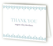 Cross Pendant Baptism and Christening Thank You Cards