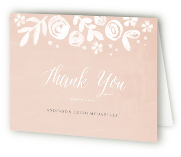 Baby's Breath Baptism and Christening Thank You Cards