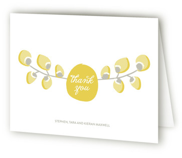 Organic Palms Baptism and Christening Thank You Cards