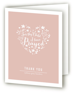 For This Child Baptism and Christening Thank You Cards