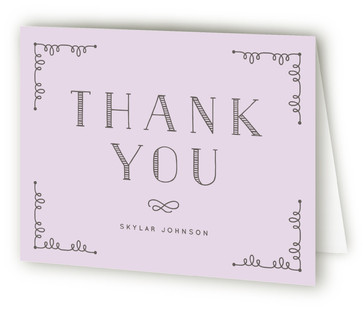 Simply Blessed Baptism and Christening Thank You Cards