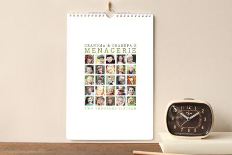 Menagerie Standard Calendars