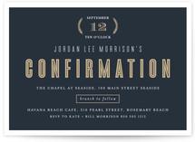 Classic Elements Confirmation Invitations