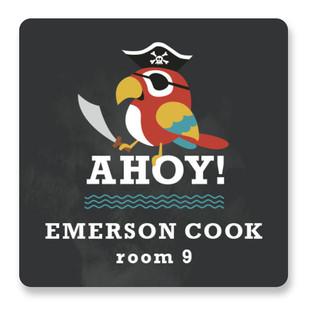 Yo Ho Ho Custom Name Label