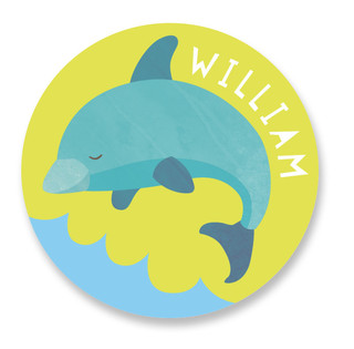 dolphin Custom Name Label