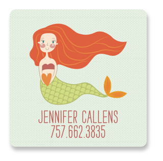 Mermaid For Me Custom Name Label