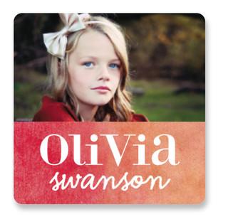Ombre Love Custom Name Label