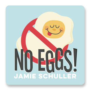 No Eggs Custom Name Label